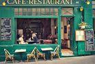 A typical Parisian cafe.