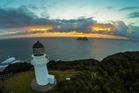 The East Cape lighthouse past Te Araroa.