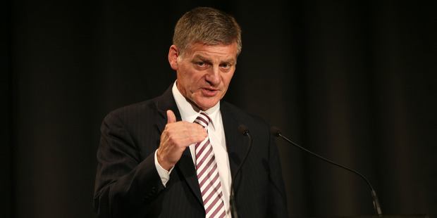 Loading Minister for Finance Bill English gives economic speech to business leaders at Stamford Plaza. Photo / Doug Sherring