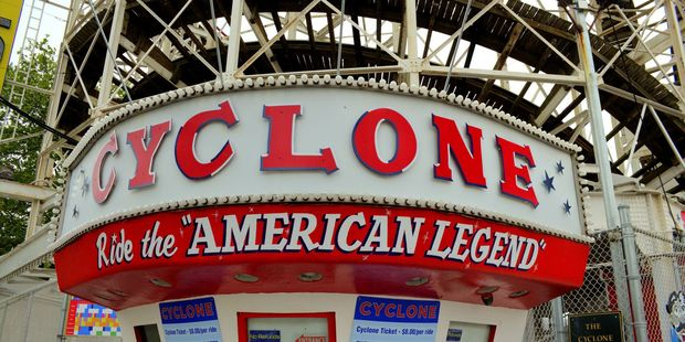 The Cyclone at Coney Island.