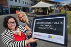 Young Labour Rotorua's Amy Uluave (left) and LGBTQ at Waiariki chairperson Pitah Maui. Photo / Ben Fraser