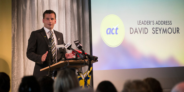 Loading ACT Party leader David Seymour at the ACT Party conference in Orakei. Photo / Jason Oxenham