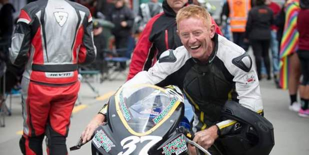 Shaun Harris has defied the odds after a serious crash in a Superbikes race in Timaru last month. Photo / Supplied