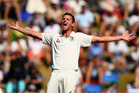 Stump microphones picked up Josh Hazlewood swearing after a controversial verdict from third umpire Richard Illingworth in Christchurch. Photo / Getty Images