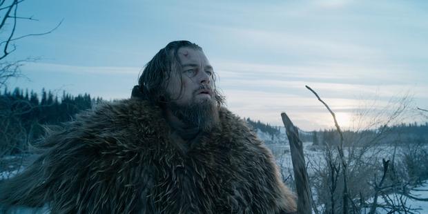 Leonardo DiCaprio in a scene from the film, The Revenant.
