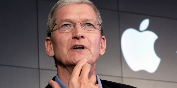Apple CEO Tim Cook is fighting the FBI as it tries to get the company to develop a hack for one of its own phones. Photo / AP