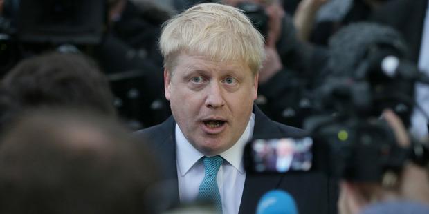 London Mayor Boris Johnson says the EU is eroding British sovereignty. Photo / AP