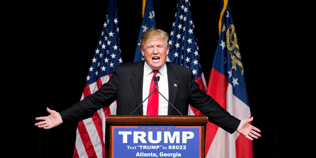 Loading The man to beat: Republican presidential candidate Donald Trump. Photo / AP