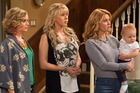 Andrea Barber, Jodie Sweetin, and Candace Cameron Bure in a scene from, Fuller House. Photo / AP