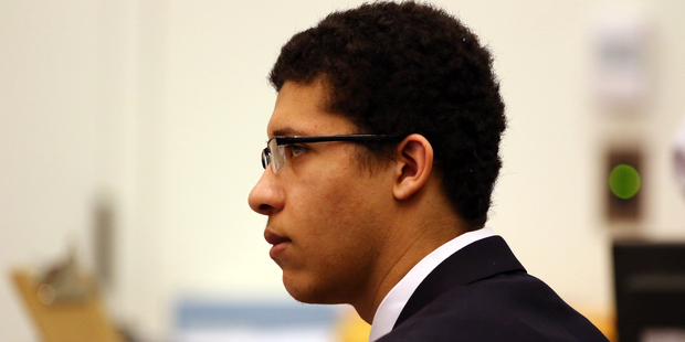 File photo shows Philip Chism appearing in Salem Superior Court, during closing arguments. Photo / AP