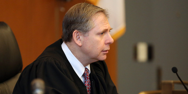 Judge David Lowy reads his sentence for Philip Chism in regards to the murder and rape of former Danvers High School teacher Colleen Ritzer. Photo / AP