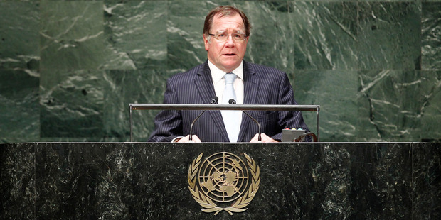 Foreign Minister Murray McCully and the New Zealand team lobbied hard for a seat on the United Nations Security Council. Photo / Supplied