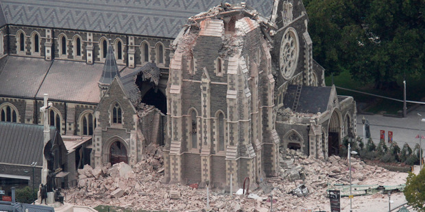 Christchurch Cathedral was badly damaged by the Christchurch earthquake on 22 February 2011. Photo / Mark Mitchell