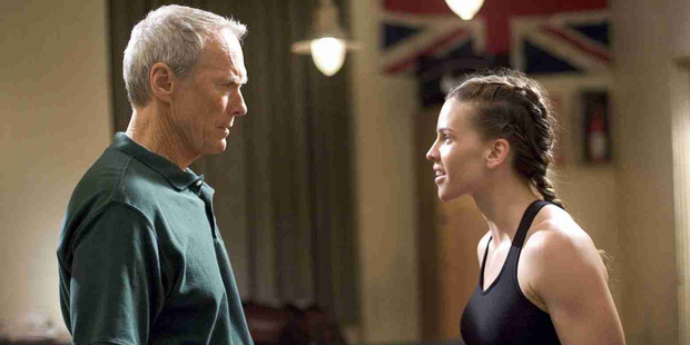 Actors Clint Eastwood and Hilary Swank, star in the film Million Dollar Baby.