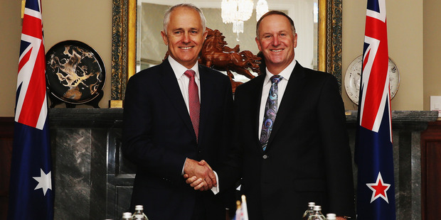 Australian Prime Minister Malcolm Turnbull and New Zealand Prime Minister John Key has made a deal for expat Kiwis. Photo / Getty Images