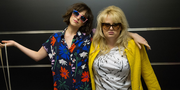 Dakota Johnson, left, and Rebel Wilson in a scene from How to Be Single. Photo / Supplied