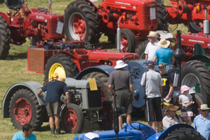 About 50 vintage tractors will be on show and they will be put through their paces with sled pulling demonstrations.