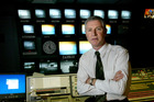 Mark Jennings, pictured in the Three News production suite in 2003. Photo / NZME