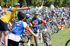 A big thanks to all of the wonderful volunteers at the Weetbix TRYathlon. Photo / Duncan Brown