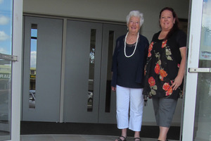 Te Puke War Memorial Hall patron Maureen Oliver and committee secretary/booking agent Lydia Wilkinson.