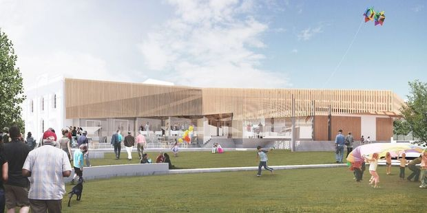 A digital impression of The Waihinga Centre, which will proceed. PHOTO/FILE