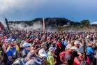 A sea of colour as a thousand runners and walkers set off from the start-line in Te Whakarewarewa Thermal Valley, Te Puia. Photo/Kurt Matthews.