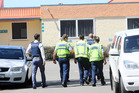 Police attend Tamatea High school in Napier after a bomb threat was made. PHOTO/PAUL TAYLOR