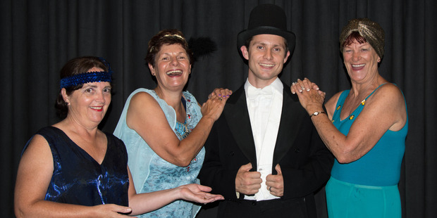 From left are Debbie Sudfelt, Liz Bassett, Daniel Holloway and Yvonne Williams in a scene from Deco Delight.