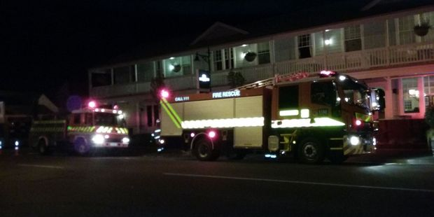 Fire crews in Greytown were called to the White Swan on Friday night. PHOTO/ALISA YONG
