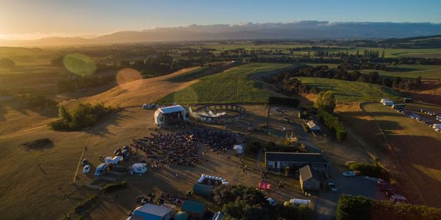 A drone overview of the Pink Floyd tribute concert at Stonehenge in Carterton on Saturday night. PHOTO/RENE CLOUGH