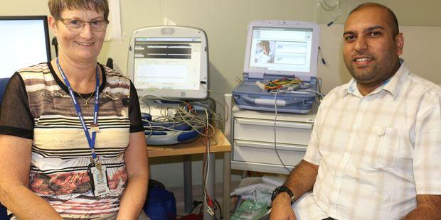 Cardiac physiologists Stephanie Morrison and Kunnal Singh. PHOTO/HAYLEY GASTMEIER