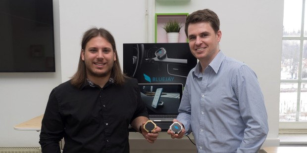 Martin Mikeln (left), project manager, and Nick Bartlett, The Kiwi Factory.