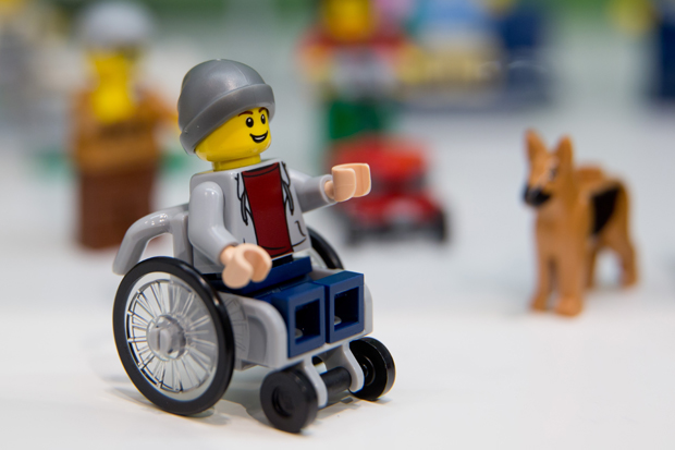 A child in a wheelchair with an assistance dog has also been created. Photo / Getty, AFP