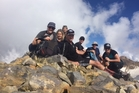 Kelly Wood, Jenna Collings, Dearne Wilson, Kevin Cowper, Rod Kirk, Campbell Cairns and Emma Gibb during their four peaks.