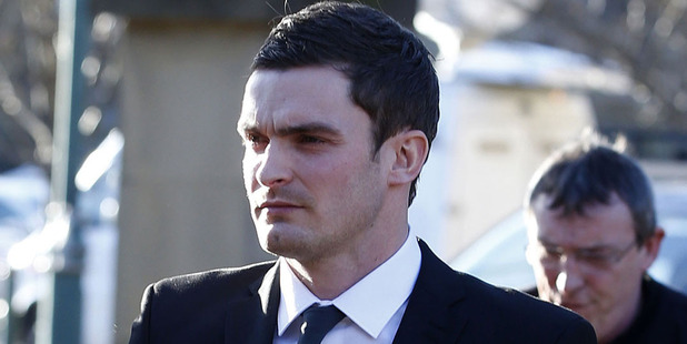 Sunderland winger Adam Johnson arrives at Bradford Crown Court. Photo / AP