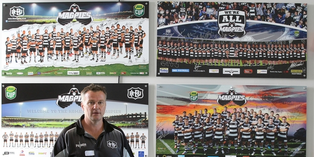 Hawke's Bay Rugby Union commercial and marketing manager Jay Campbell spoke at the first meeting of the new fan council, at McLean Park, Napier, last night. Photo / Duncan Brown