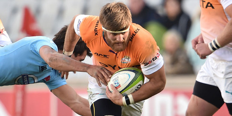 Boom Prinsloo on the charge for the Cheetahs. Photo / Getty
