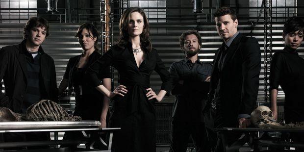 The cast of the TV show Bones.