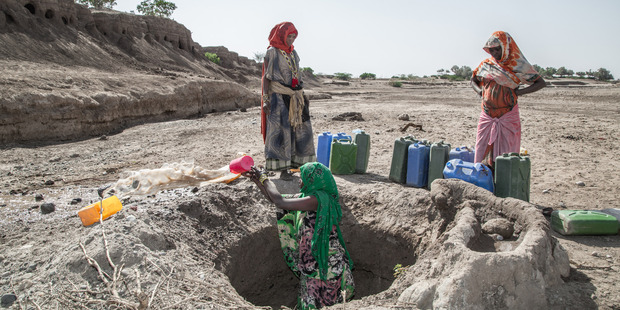 Aside from fetching firewood for cooking, women are also responsible for fetching water for drinking and cooking. Photo / Aida Muluneh, Washington Post