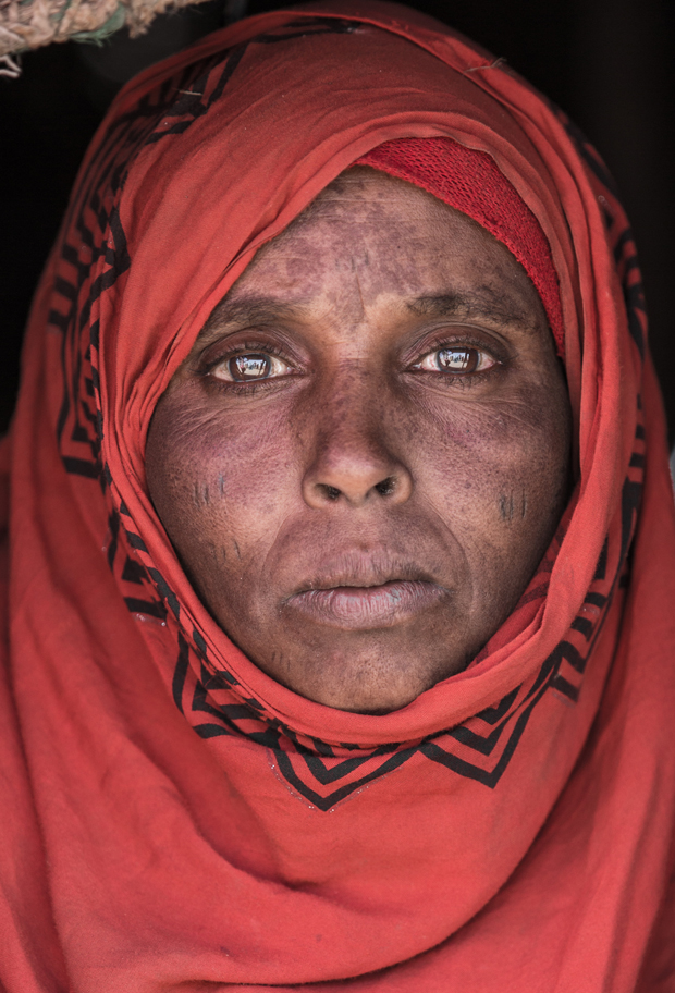 Hawa Yonis, 35, is a mother of 6. Her family is surviving on the bare minimum. Photo / Aida Muluneh, Washington Post