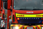 A 4-ha fire is suspected to have been started by a burnt-out car blaze.