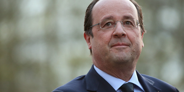 The issue of reparations for damage caused by atomic testing is top of the agenda of President Francois Hollande's tour of French Pacific territories. Photo / Getty Images