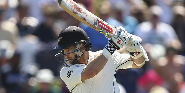 Kane Williamson begins day four on 45 not out. Photo / Getty