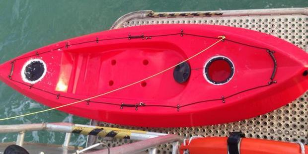 The empty kayak was found at about 8am today, about 300m from Musick Point. Photo / Supplied