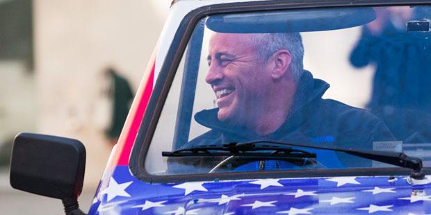 Matt LeBlanc in the car that broke down on his first day filming Top Gear. Photo/Top Gear