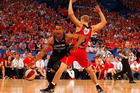 Mika Vukona and Shawn Redhage have enjoyed a number of battles over the years. Photo / Getty