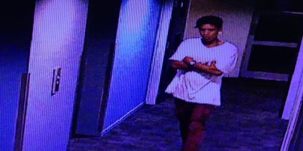 The alleged offender followed a woman into a Queen St apartment building in Auckland central. Photo / Supplied via Police