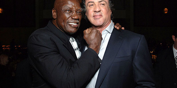 Tony Burton with Sylvester Stallone. Photo / Getty Images