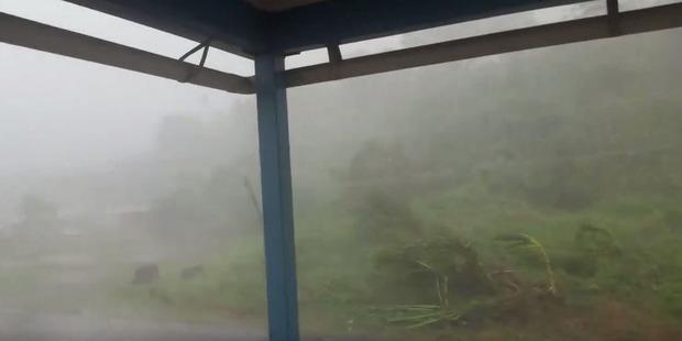 Cyclone Winston bears down on Taveuni. Photo / JointCyclone Twitter
