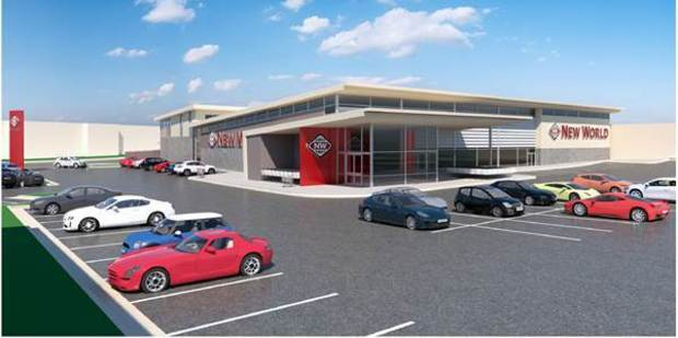 An artist's impression of the replacement New World at Papakura. Picture:/supplied